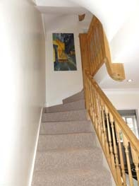 Stairs leading to the first floor landing
