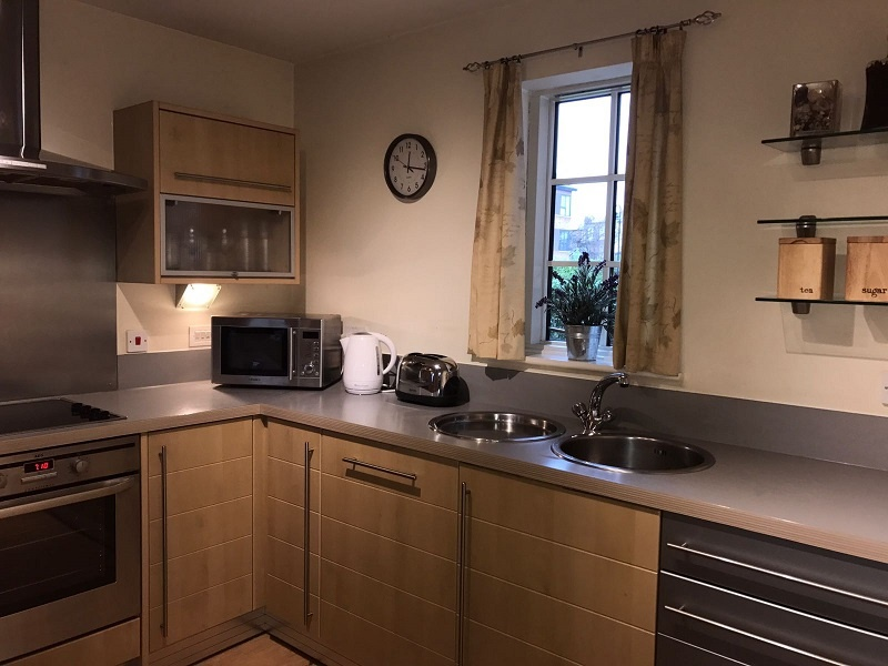 this kitchen is fitted with everything you need for a self catering break