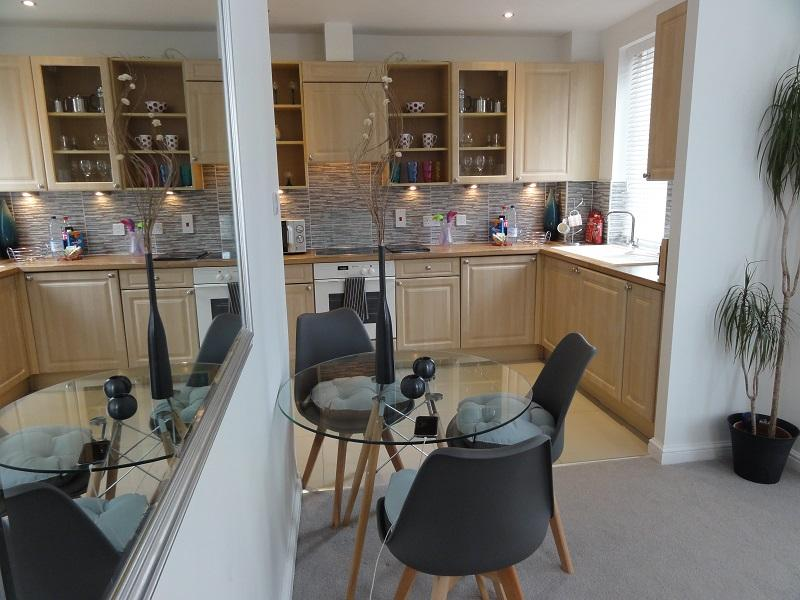 Kitchen equipped for self-catering holiday let