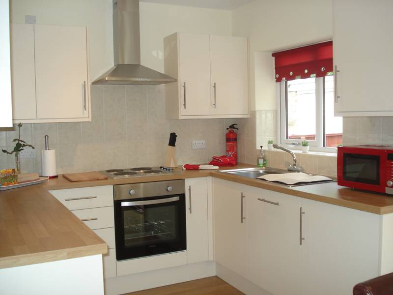Holiday home offers a well fitted kitchen with dishwasher, washer dryer and microwave oven.  Equipped with everything you need for a self catering holiday.